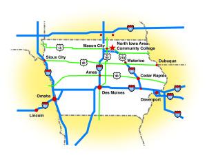 Directions to NIACC - Iowa Map