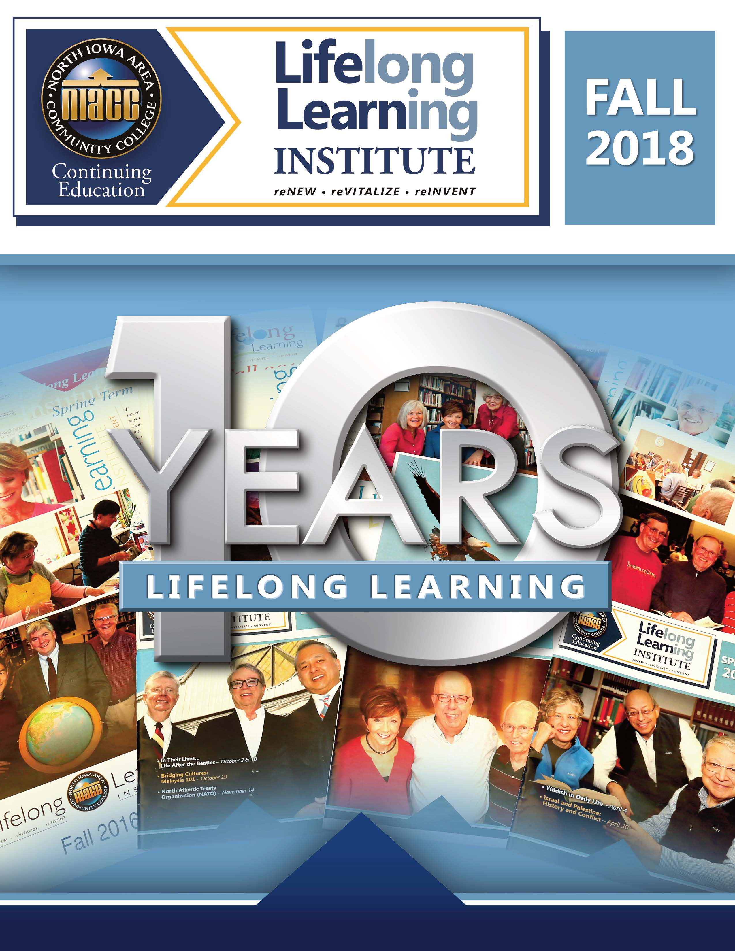 Cover image for the Lifelong Learning Fall 2018 Brochure