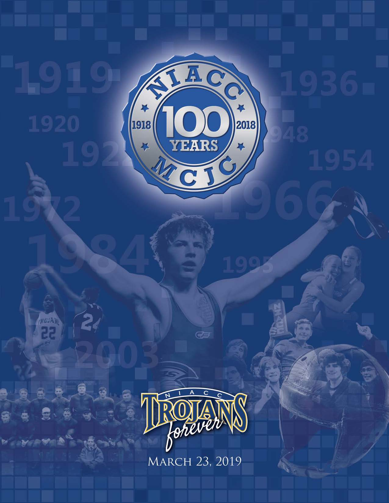 Cover of the Trojans Forever-100 Year Athletic Program