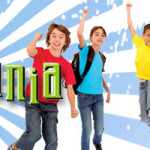 Mind Mania Logo with Kids jumping in the air.