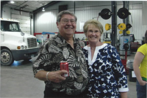 Stan Harrison and wife