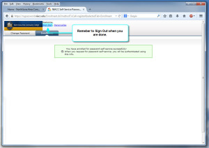 Password Self-service Enroll step 5