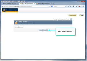 Password Self-service Unlock Account step 3