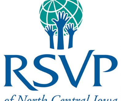 Graphic logo for RSVP of North Centeral Iowa