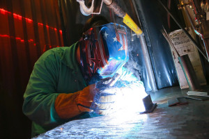Picture of Student Welding