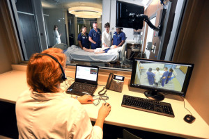 Picture of the Health Simulation Center during a Simulation