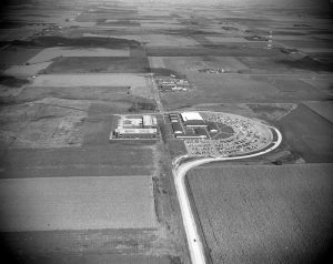 Aerial photo of the NIACC campus