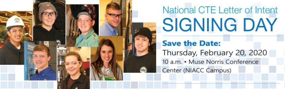 Photo inviting students to the Career and Technical Signing Day on February 20, 2020