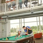 Picture of students playing pool