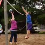Picture of Students playing sand volleyball