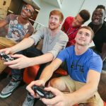 Picture of students playing video games