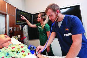 NIACC Nursing Students practing on high fidelity manikin simulators