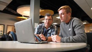 Photo of a tutoring session in the Student Learning Center in Beem Center