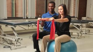 Photo students in a Physical Therapy classroom