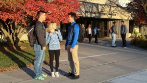 Photo of students outside the NIACC Auditorium