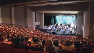 Photo of a performance in the NIACC Auditorium