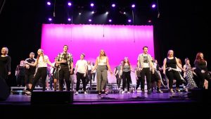 Photo of students performing a vocal concert in the NIACC Auditorium