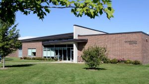 Photo of the exterior of the Rec Center