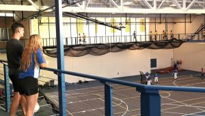 Photo of students working out in the Rec Center