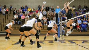 Photo of a NIACC Volleyball game