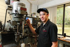 Picture of Tool & Die student working with machinery