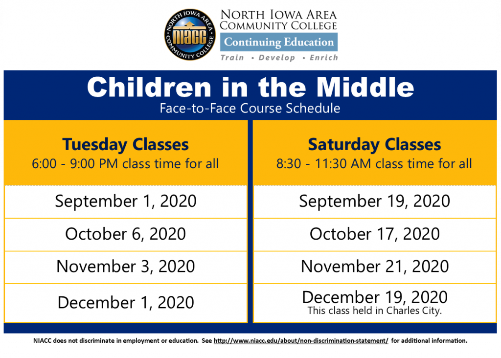 Children in the Middle Schedule