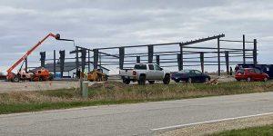 Photo of the Hanson Center Building under construction
