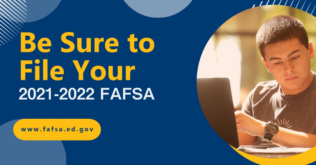 Graphic for filing your FAFSA