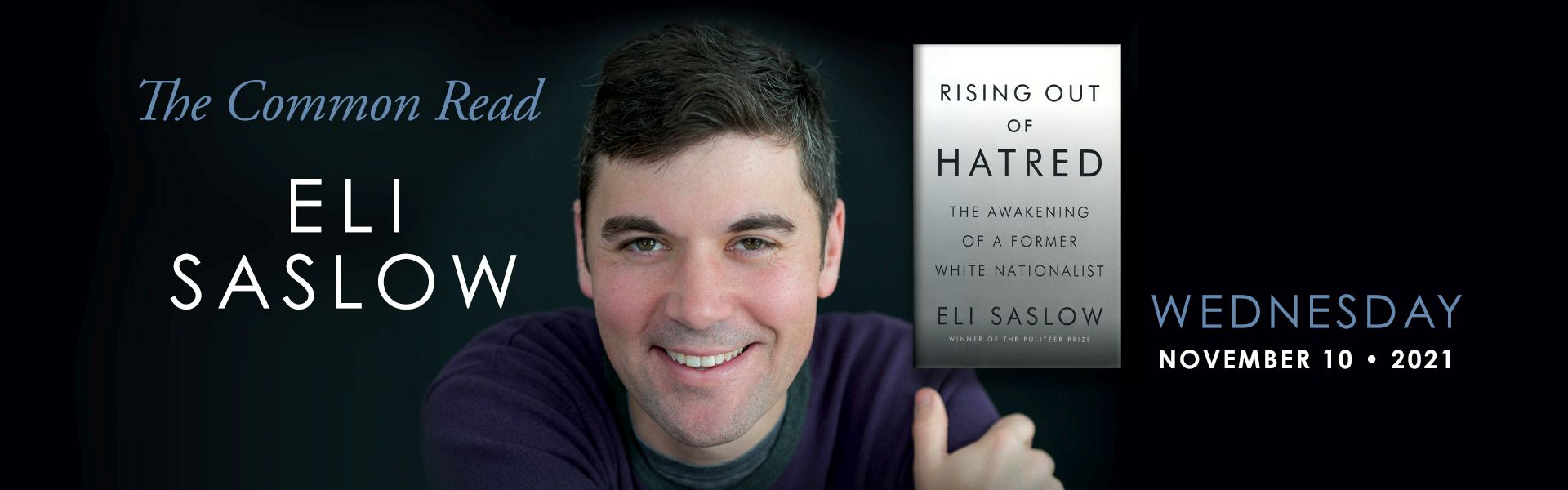 """Picture of book author """"Rising Out of Hatred"""""""