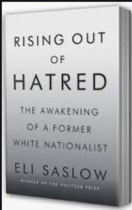 """Picture of book cover - """"Rising Out of Hatred"""""""