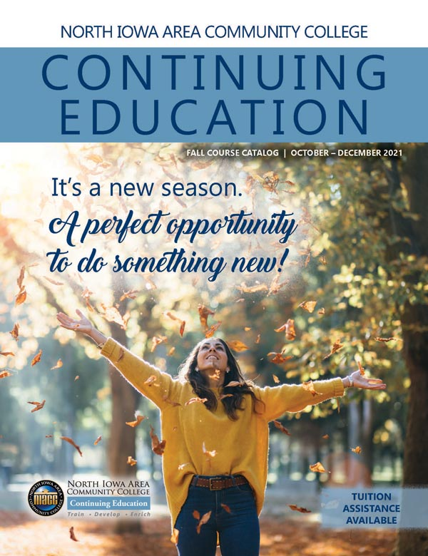 Graphic of the Community Education Fall 2021 magazine cover