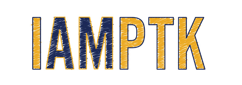 """Graphic with text """"I AM PTK"""""""