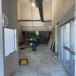 Photo of John V. Hanson Career Center during construction